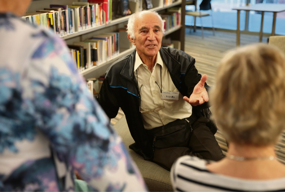Franco Smargiassi at Wanneroo Library. Picture: Martin Kennealey