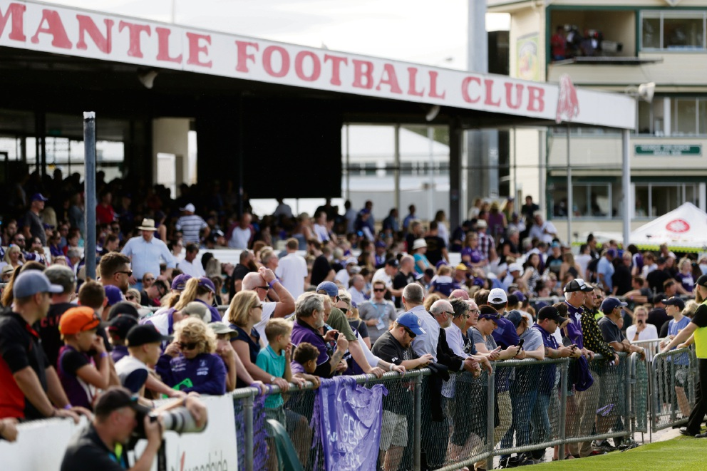10,000 people packed Fremantle Oval for the inaugural AFLW match in Perth in March. Could the same happen at Cockburn ARC in 2018?