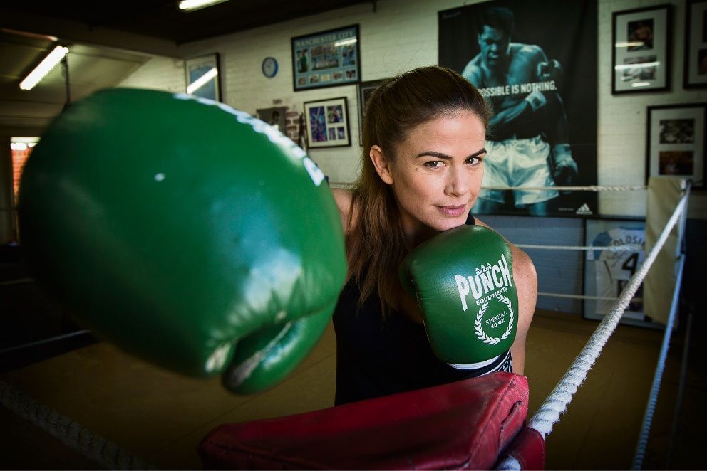 Kirsty Fitzpatrick donned the gloves for a cause.   |Picture: Will Russell    d467325
