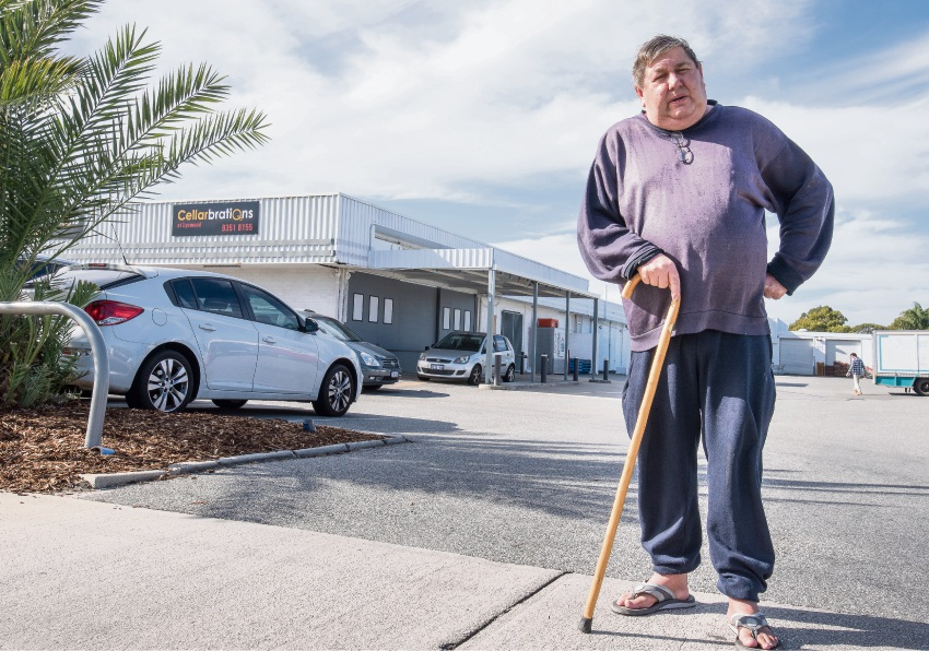 Disability pensioner Peter Watson is angry about the lack of disabled toilets at Lynwood Village Shopping Centre.