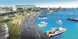 Artist impression of the proposed Ocean Reef Marina.