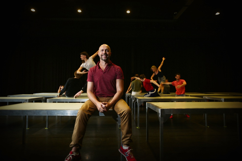 Paul Selwyn Norton with Strut dancers. Picture: Andrew Ritchie