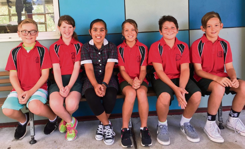 Darlington Primary School students at the first bushfire drill of the year at their school.