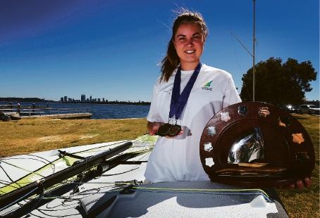 Sailing Champion Isabelle Kenny. Picture: Matt Jelonek www.communitypix.com.au   d464629