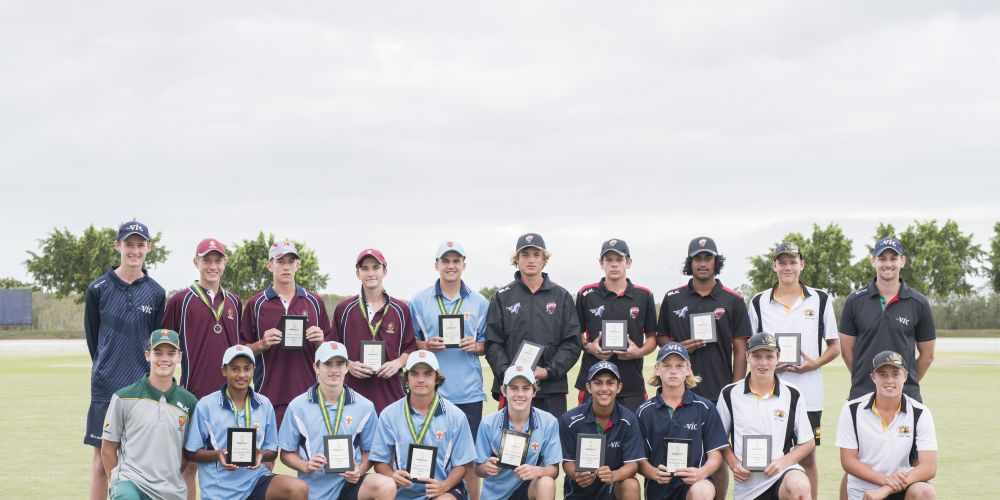 Melville cricket Ewan Nielson (front row, second from right) is one of two West Australians selected in the Cricket Australia Under-16s squad.