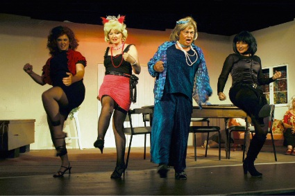 Angel's girls in Bridgetown Theatre's production of STiFF.