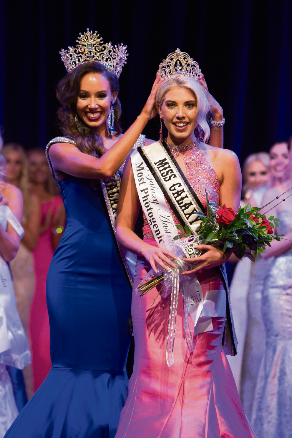 Elise Nazzari is crowned Miss Galaxy Australia.