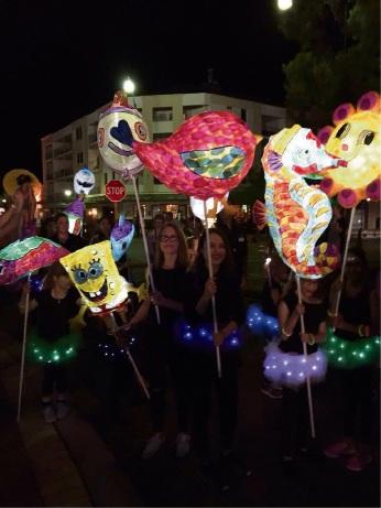 Intuitive Souls Kids Art Class with their award-winning lanterns.