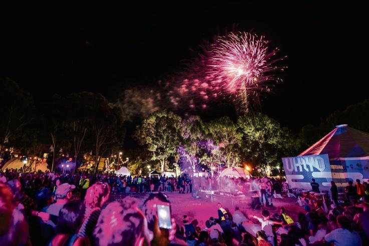 Festival fireworks. Pictures: Luke Baker