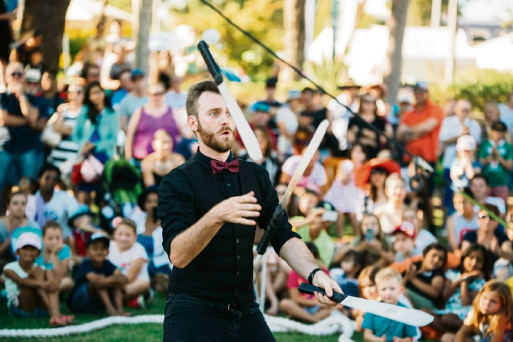 Juggling. Pictures: Luke Baker