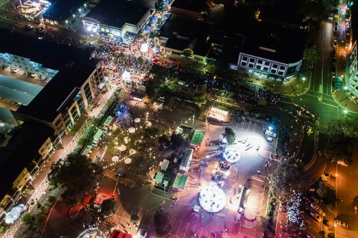 Aerial photo of the festival.