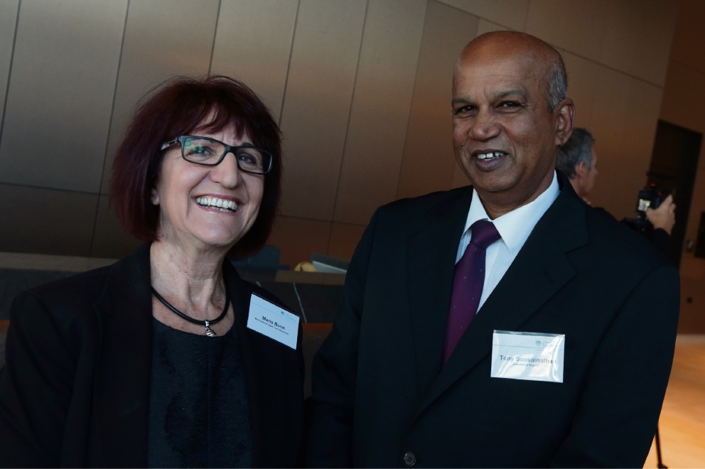 Maria Bunn (Multicultural Aged Care Solutions) and Tony Soosainathan (Joondalup Resort).
