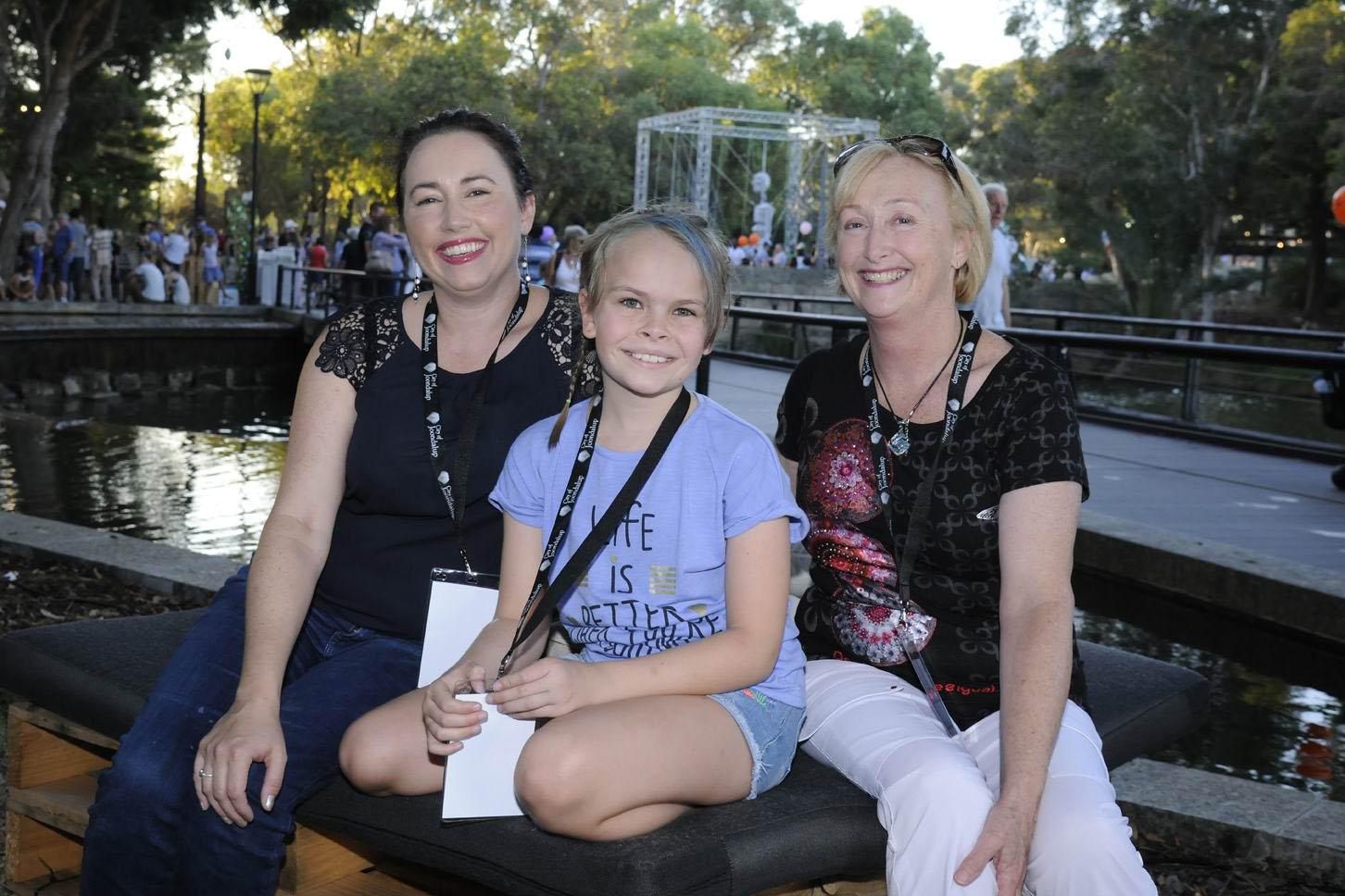 Aisha Timol, Hana Timol and Helen Brook. Pictures: Chris Kershaw