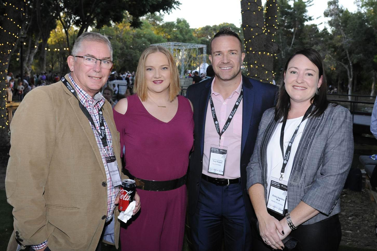 Mayor Troy Pickard with new local members Mark Folkard, Jessica Stojkovski and Emily Hamilton. Pictures: Chris Kershaw