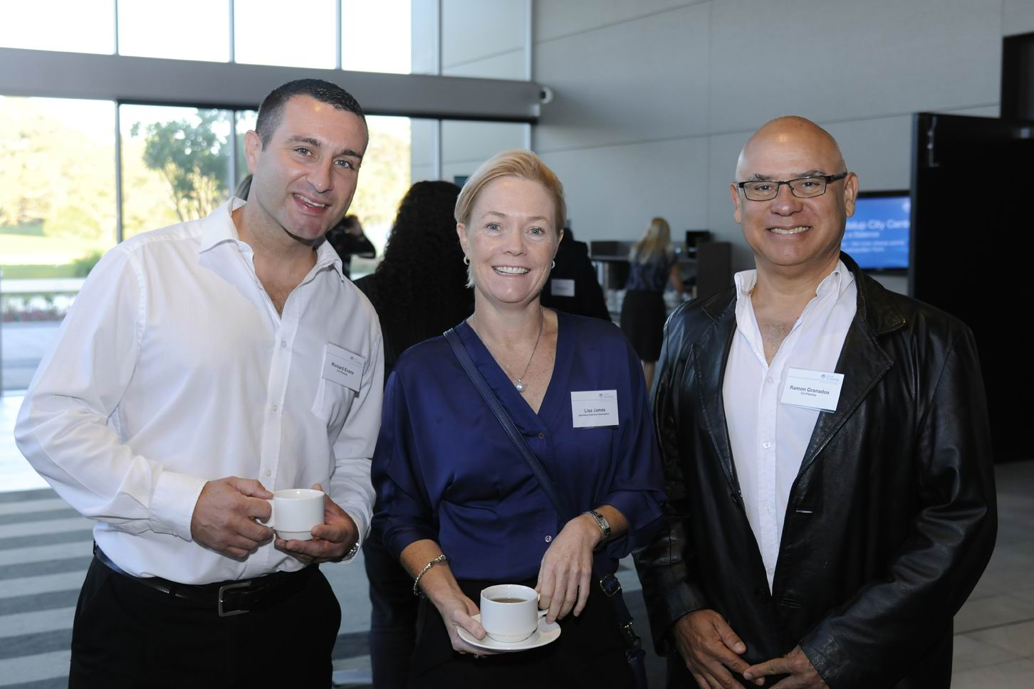 Richard Evans, Lisa James and Ramon Granados. Picture: Chris Kershaw
