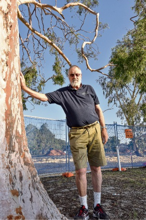 Wilson resident Bill Prince is angry about the destruction of gum trees in his neighbourhood.