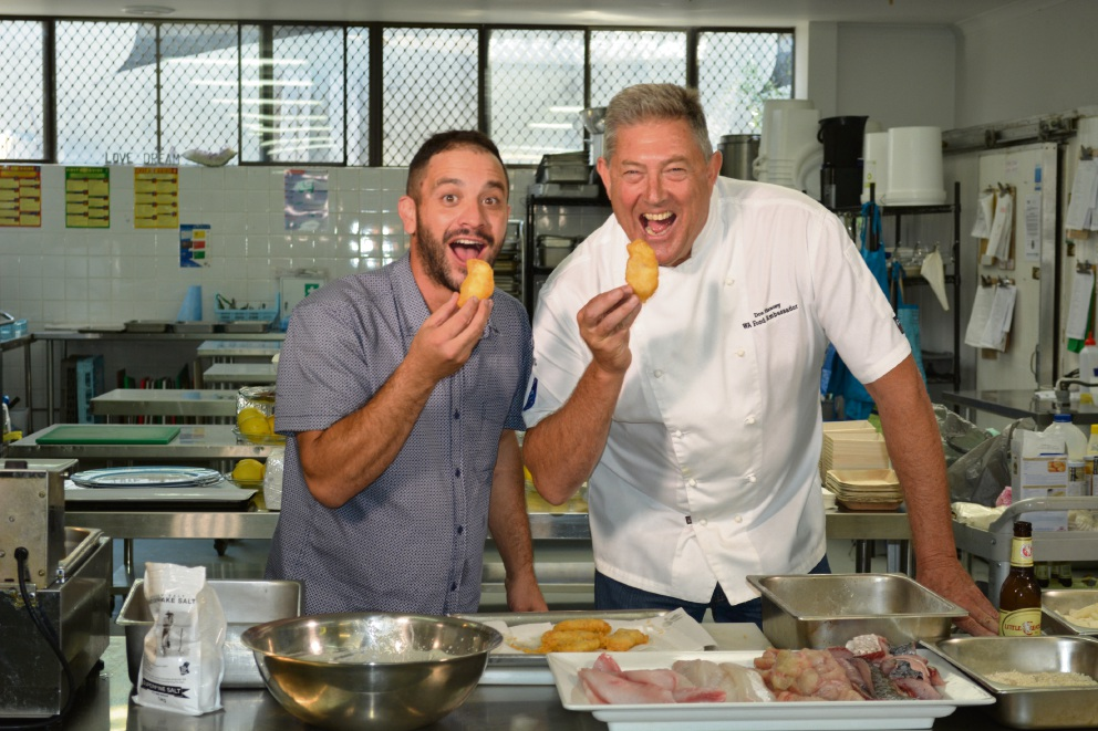 Chefs Peter Manifis and Don Hancey.