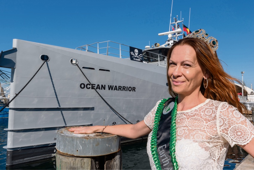 Recently-crowned Earth Australia Ambassador Alison Williams plans to volunteer for ocean conservation organisation Sea Shepherd. Picture: Emma Geary