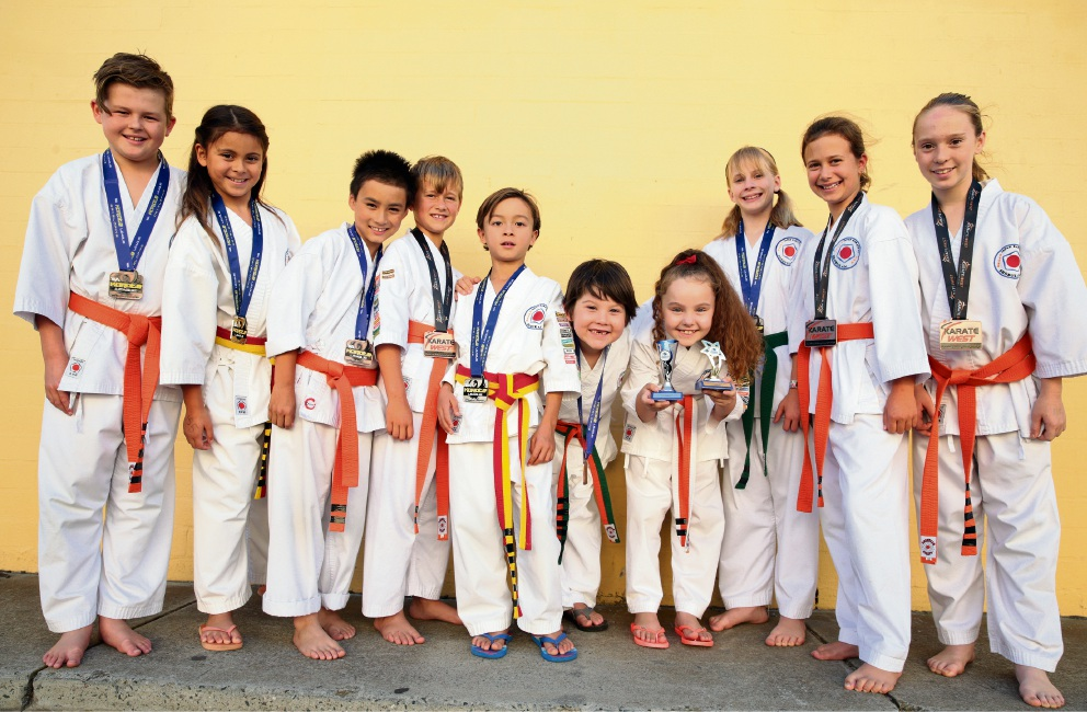 Shobukan Martial Arts students show off their awards and medals.  Picture: Martin Kennealey www.communitypix.com.au   d467587