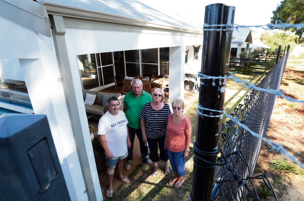 Yanchep residents Mike Tierling, Barry and Heather Powell and Pam Tierling. Picture: Martin Kennealey d467452