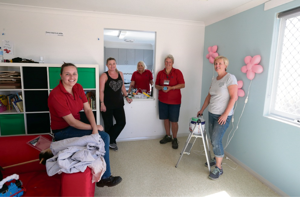 Pieta Muste of Bunnings, Denise of Rebecca West House, Annette Swift and Julie Otremba of Bunnings Mindarie and Pam of Rebecca West House. Pictures: Martin Kennealey                                       d467439