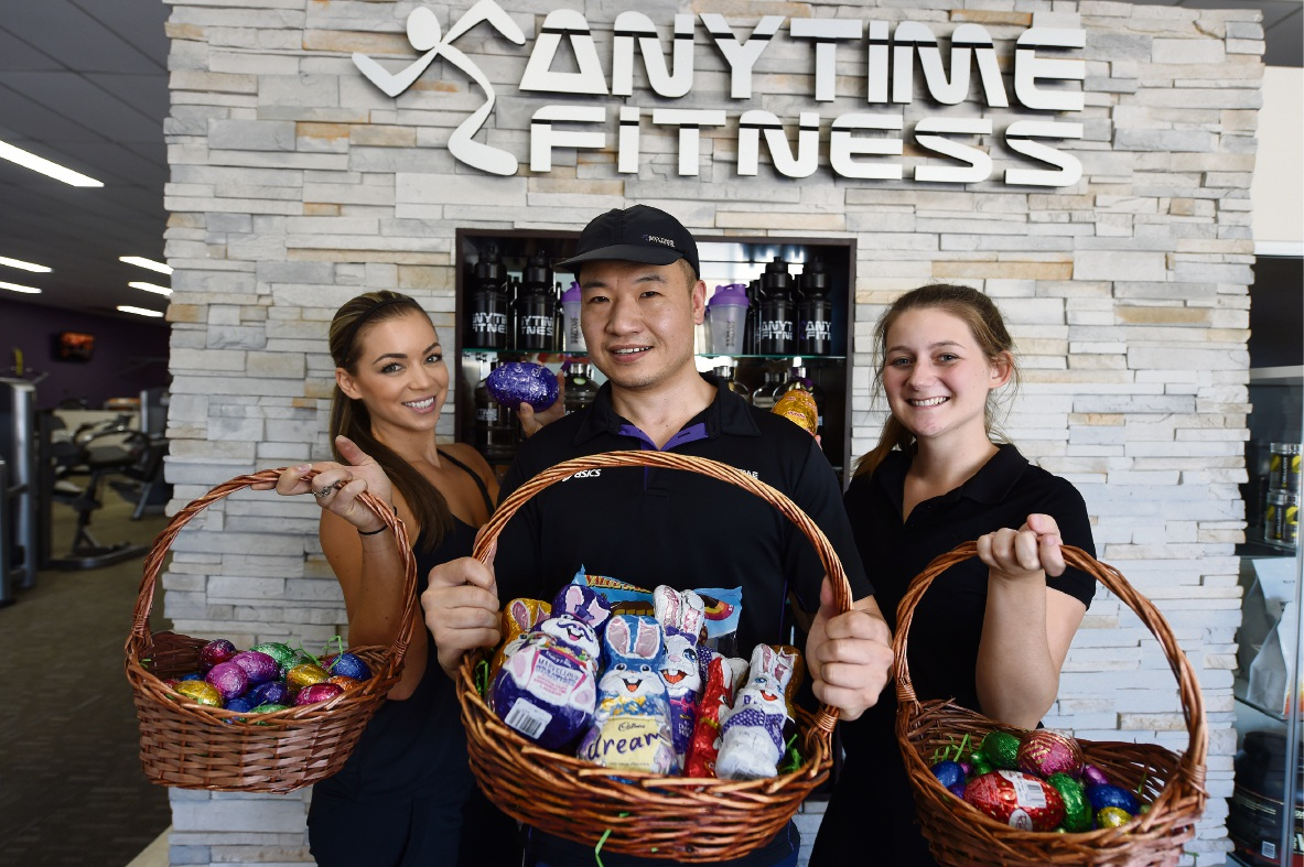 Ash Kane, Tim Ye and Hollie Haffenden from Anytime Fitness Rockingham. Picture: Jon Hewson