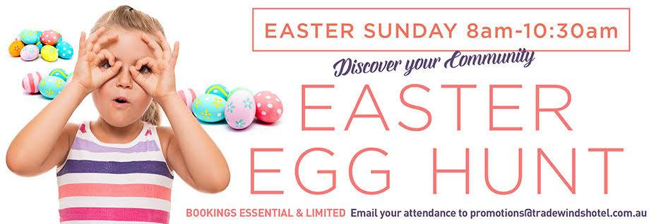 Easter Egg hunt on in Fremantle pub