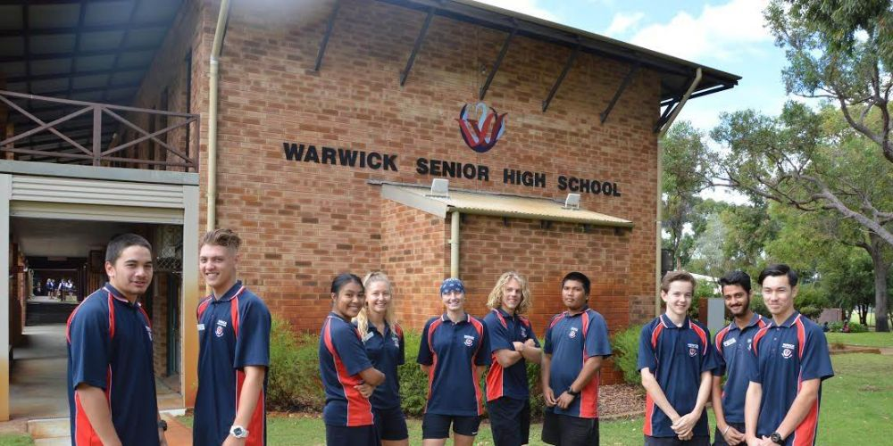 Warwick Senior High School students have also jumped on board.