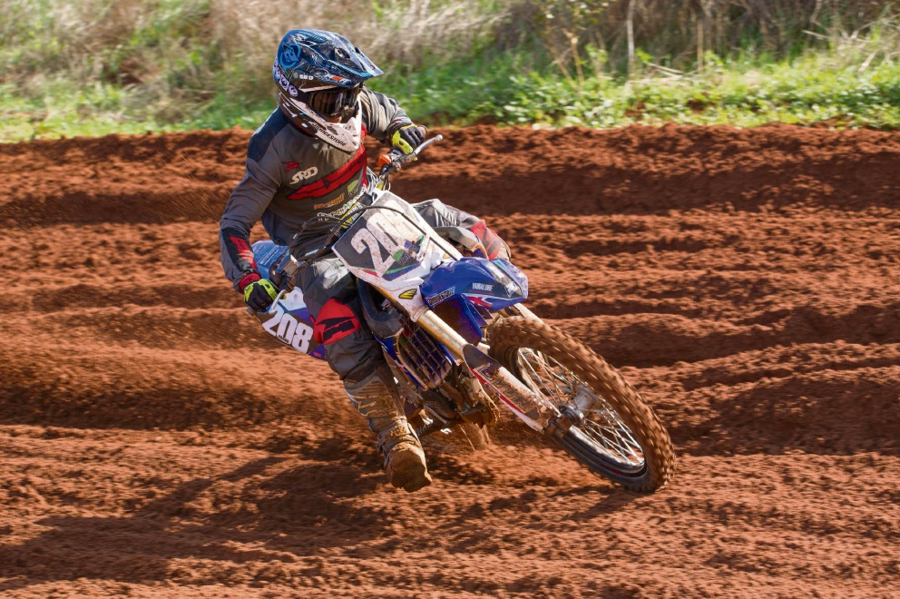 Local MX2 defending champion Josh Adams. Picture: Gordon Pettigrew – True Spirit Photos