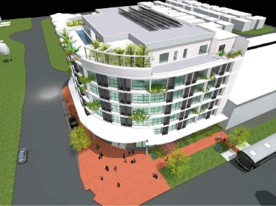 An artist's impression of the planned hotel.