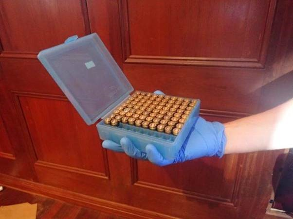 Bikie charged after raid on Landsdale home uncovers cache of guns