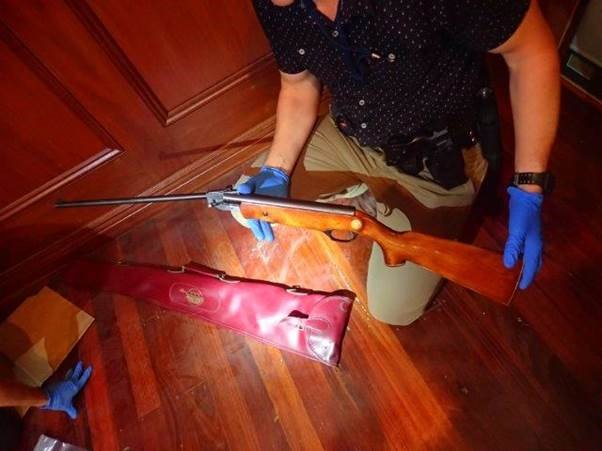 One of the weapons uncovered in the raid. Photo: WA Police