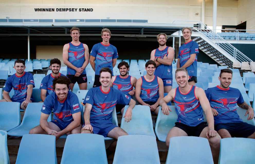 West Perth siblings: back - Zac and Jake Turner, Jay and Mitch van Berlo, Aidan and Conal Lynch, Angus and Oscar Allen; front - Brayden and Mitch Antonio, Scott and Shane Nelson. Picture: Martin Kennealey