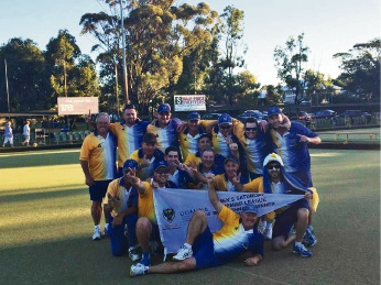 The Manning Eagles with their men's premiership flag.