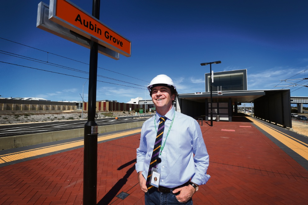 Project director Ben Amrom at the Aubin Grove train station. Pictures: Matt Jelonek        www.communitypix.com.au   d468918