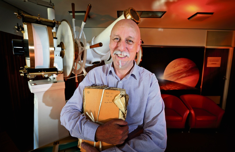 Dr Craig Bowers has written a comprehensive history of the Perth Observatory in Bickley. Picture: David Baylis        www.communitypix.com.au   d467968