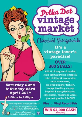 Polka Dot Vintage Market in Claremont this weekend