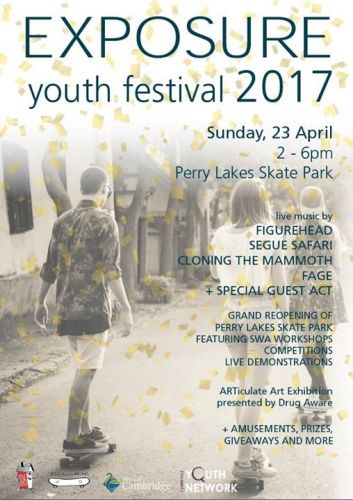 Exposure Youth Festival on at Perry Lakes Skatepark