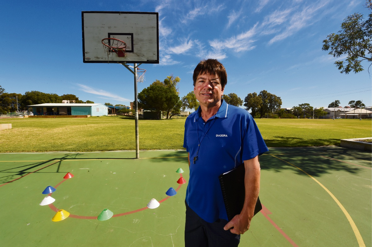Phys ed teacher Phil Moriarty. Picture: Jon Hewson                                 d467925