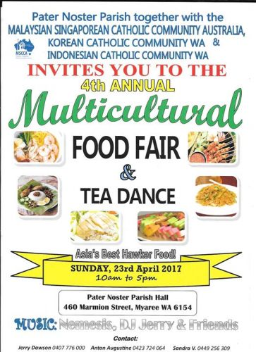 Multicultural Food Fair and Tea Dance this Sunday in Myaree