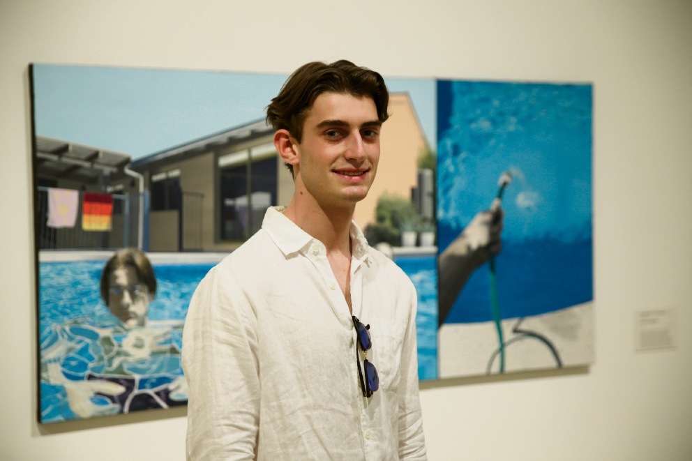 Max Evangelisti's piece City Beach on Sunday, has been selected for the Year 12 perspectives exhibition at the WA Art Gallery.