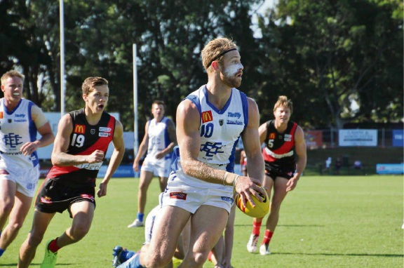 East Fremantle's Jonathon Marsh gathered a team-high 33 disposals in the loss to Perth on Saturday. Picture Phil Elliott/ PixEll Photography.