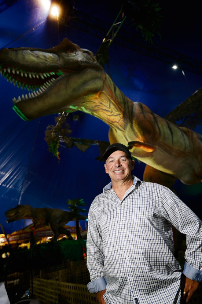 Director Tony Gasser at Jurassic Creatures in Perth. Pictures: Andrew Ritchie