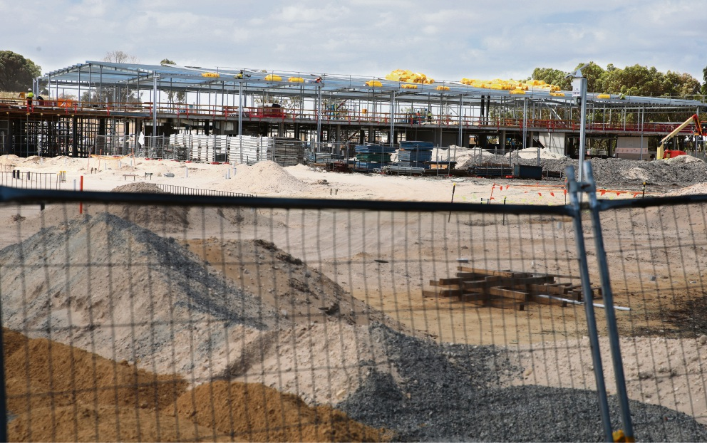 Under construction, the Yanchep secondary school is due to open in mid-2018.