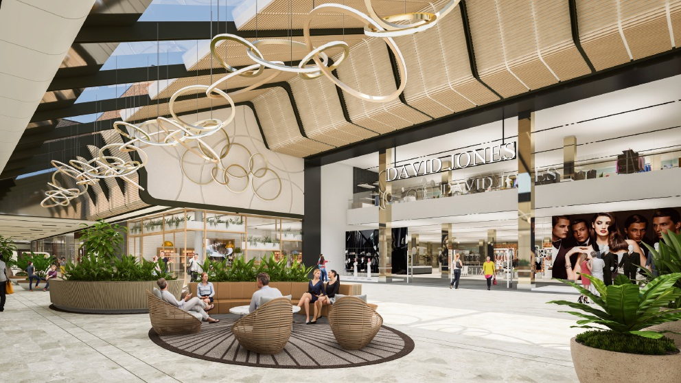 Artist's impression of a revamped Carousel shopping centre.