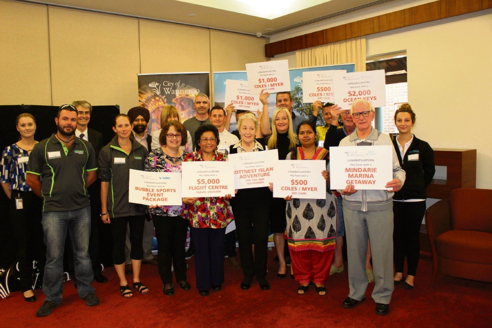 Winners with Mayor Tracey Roberts, City of Wanneroo staff and sponsors.