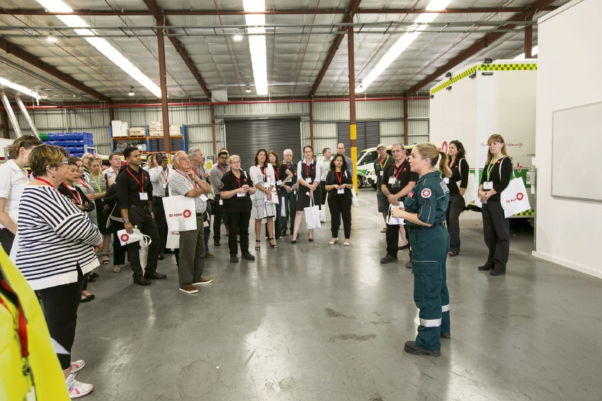 Opening day at the St John Ambulance Central hub.