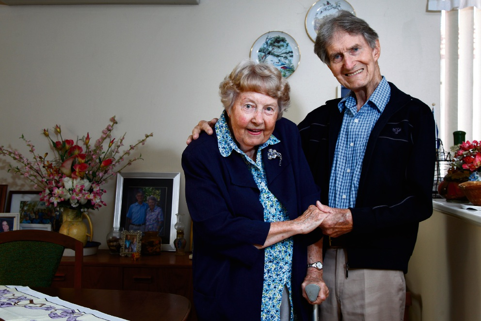 Joan and Harold Hardman at their home in Gosnells.