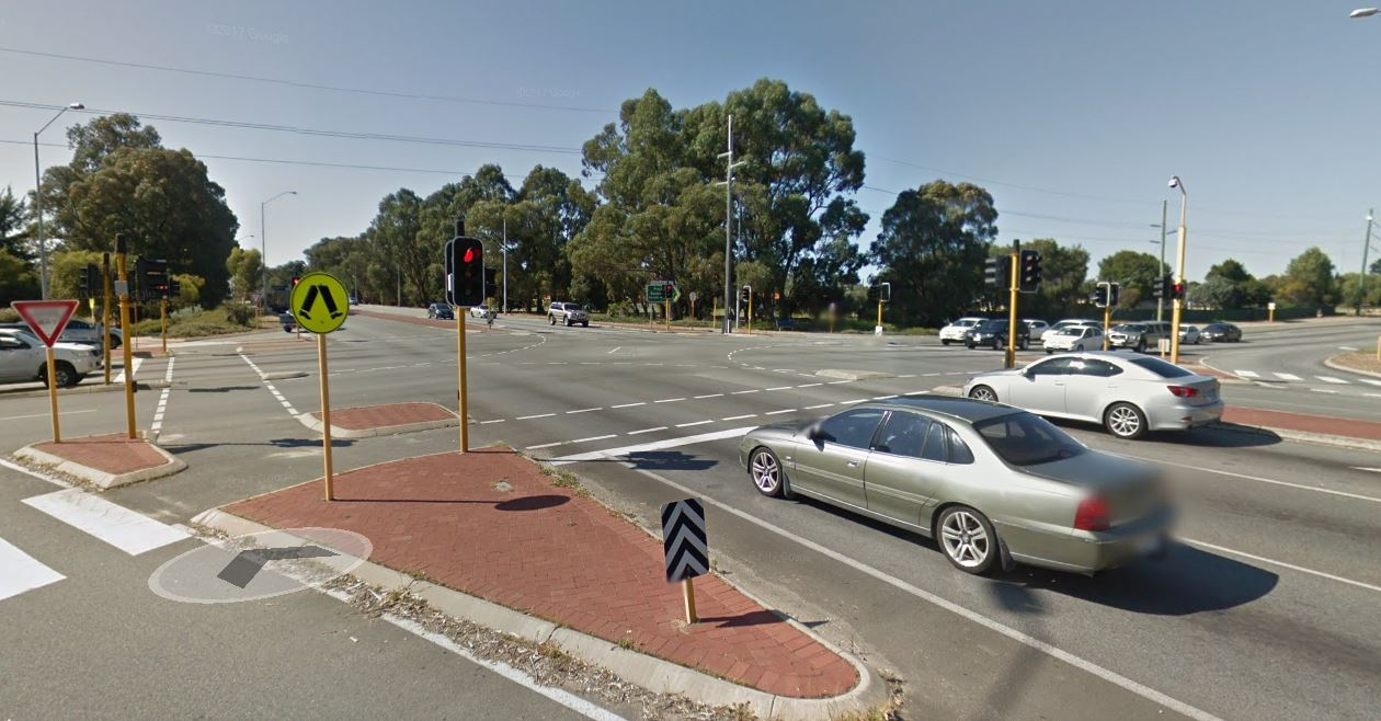 The intersection at Mandurah and Pinjarra roads.