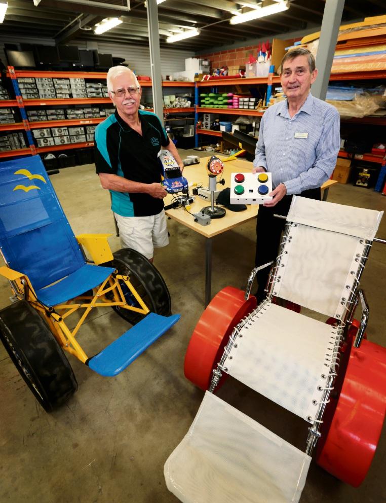 John Smith (Electronics Technician) and TADWA chief executive Bob Whitaker. Picture: David Baylis